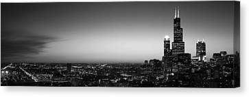 Night Chicago Il Usa Canvas Print by Panoramic Images