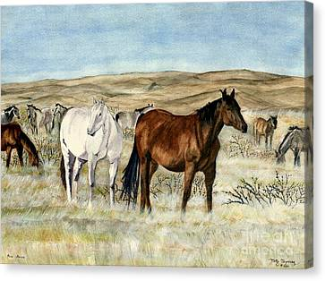 Nine Horses Canvas Print by Melly Terpening