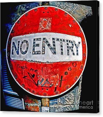 No Entry Sign Canvas Print