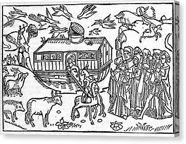 Noahs Ark, 16th-century Bible Canvas Print by King's College London