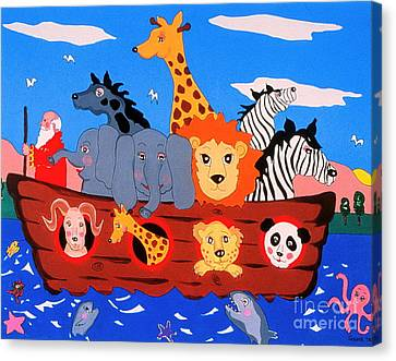 Noah's Ark Canvas Print by Joyce Gebauer