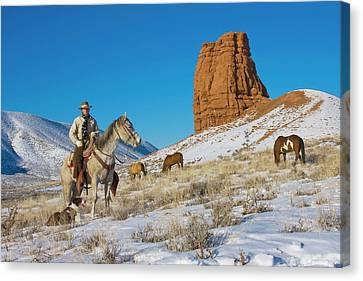 Chaps Canvas Print - North America, Usa, Wyoming, Shell by Terry Eggers