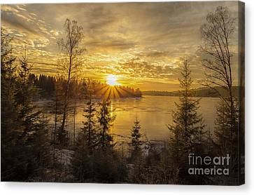 Canvas Print featuring the photograph Norway by Rose-Maries Pictures