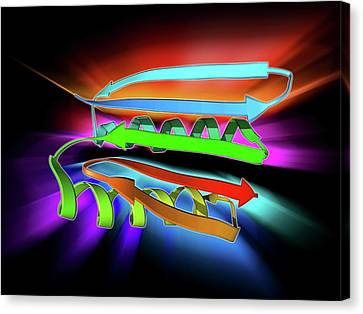 Novel Protein Canvas Print by Laguna Design