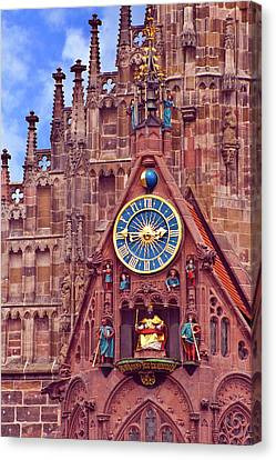 Gothic Germany Canvas Print - Nuremberg, Germany, Church Of Our Lady by Miva Stock