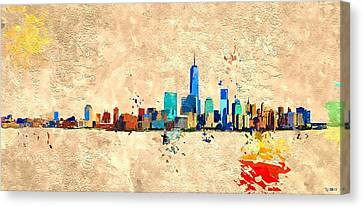 Nyc Grunge Canvas Print