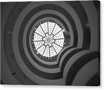 Nyc Guggenheim Canvas Print by Nina Papiorek