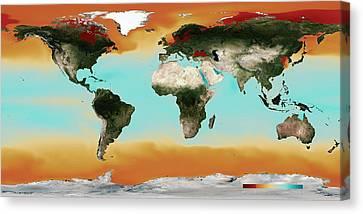 Ocean Carbonate Saturation Canvas Print