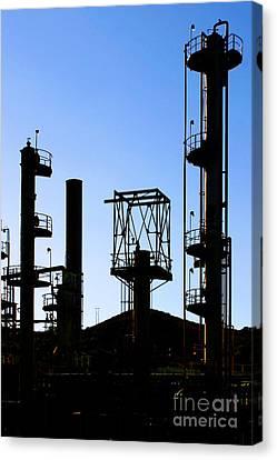 Oil Refinery Canvas Print by Henrik Lehnerer