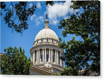 Oklahoma State Capital Dome Canvas Print by Doug Long