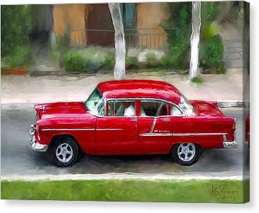 Canvas Print featuring the photograph Red Bel Air by Juan Carlos Ferro Duque