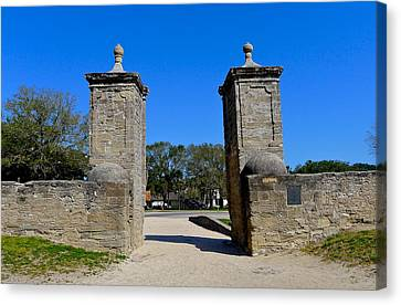 Old City Gates Of St. Augustine Canvas Print