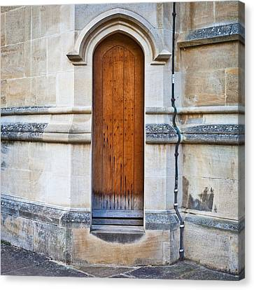 Medieval Entrance Canvas Print - Old Door by Tom Gowanlock