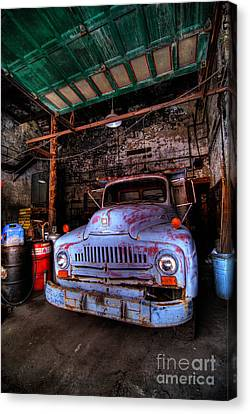 Pickup Truck Door Canvas Print - Old Pickup Truck Hdr by Amy Cicconi