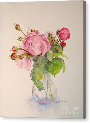Canvas Print featuring the painting Old Roses by Beatrice Cloake