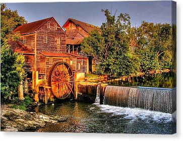 Canvas Print featuring the photograph Old Water Mill by Ed Roberts