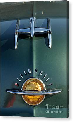 Close Up Canvas Print - 1951 Oldsmobile 98 Deluxe Holiday Sedan by George Atsametakis