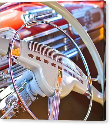 Oldsmobile Steering Wheel Emblem Canvas Print