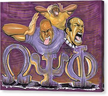 Omega Psi Phi II Canvas Print by Tu-Kwon Thomas