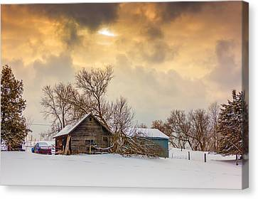 On A Winter Day Canvas Print