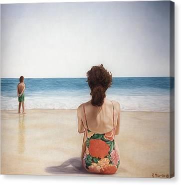 On The Beach Canvas Print by Rich Milo