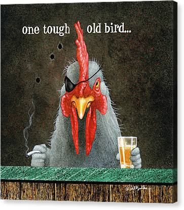 One Tough Old Bird... Canvas Print
