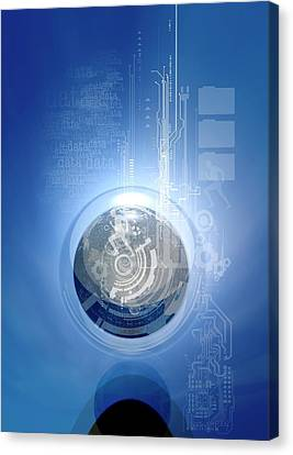 Online Data Security Canvas Print by Victor Habbick Visions