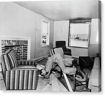 Operation Cue Atom Bomb Test Canvas Print by Us National Archives