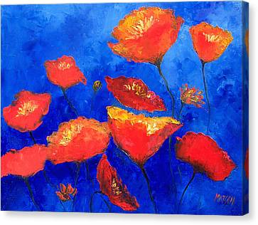 Orange Poppies Canvas Print by Jan Matson