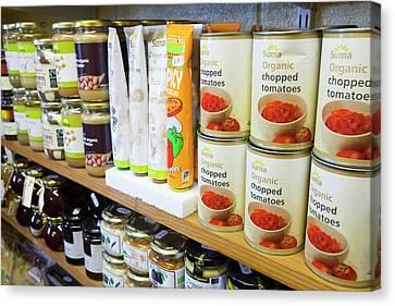 Local Food Canvas Print - Organic Farm Shop Display by Ashley Cooper