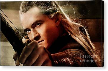 Orlando Bloom Canvas Print - Orlando Bloom by Marvin Blaine
