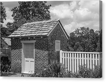 Canvas Print featuring the photograph Out Building At The Hermitage by Robert Hebert