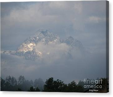 Out Of The Clouds Canvas Print by Greg Patzer