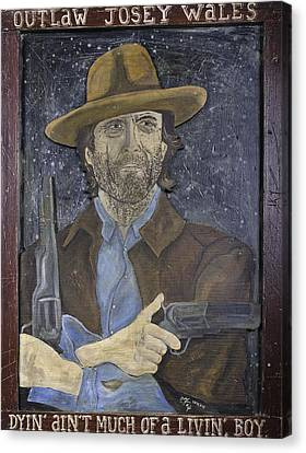 Outlaw Josey Wales Canvas Print