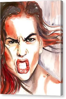 Outrage Canvas Print