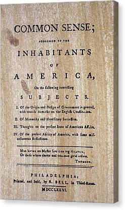 Independance Canvas Print - Paine: Common Sense, 1776 by Granger