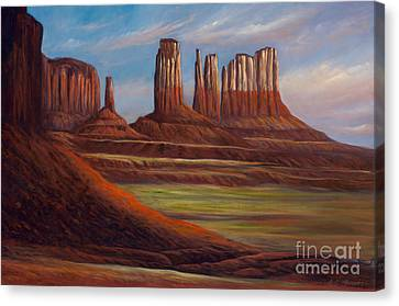 Painted Monuments Canvas Print
