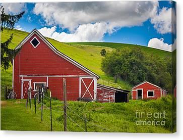 Palouse Farm Landscape Canvas Print by Inge Johnsson