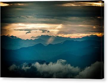 Panaramic Sunset Himalayas Mountain Nepal Canvas Print