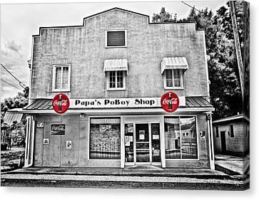 South Louisiana Canvas Print - Papa's Poboy Shop by Scott Pellegrin