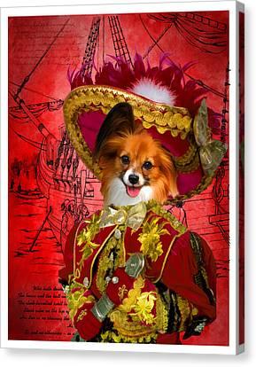 Papillon - Continental Toy Spaniel Art Canvas Print Canvas Print by Sandra Sij
