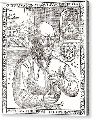 Paracelsus, Swiss Alchemist Canvas Print by Science Photo Library
