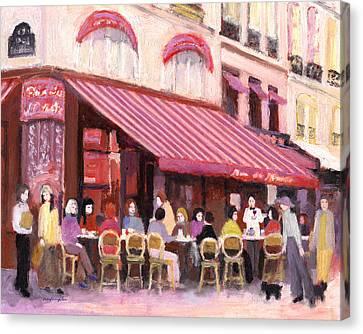 Paris Cafe Bar Canvas Print by J Reifsnyder