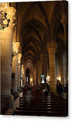 Paris France - Notre Dame De Paris - 01132 Canvas Print