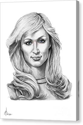Paris Hilton Canvas Print by Murphy Elliott