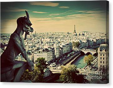 Paris Panorama France Canvas Print by Michal Bednarek