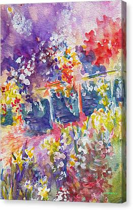Parisian Floral Canvas Print by Kathy Bassett