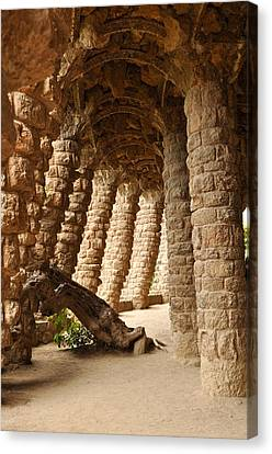 Park Guell Barcelona Spain Canvas Print