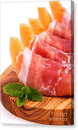 Parma Ham And Melon Canvas Print by Jane Rix