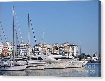 Yachts Canvas Print - Pasalimani Port by George Atsametakis